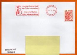 NOUMEA  AGENCE DES TELECOMMUNICATIONS  ( Telephone )   1999 Lettre Entière N° EMA Z 327 - Freistempel