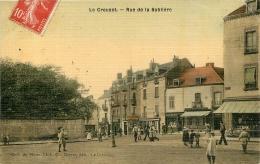 LE CREUSOT RUE DE LA SABLIERE  EDITION MARTET  TOILEE COULEUR - Le Creusot