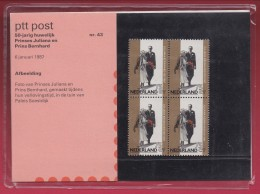 "NEDERLAND, 1987 , Stamps ""Postboek 50 Years Wedding Celebration"",  PB 43, F1164 - Period 1980-... (Beatrix)"