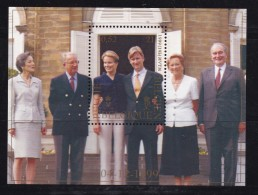 BELGIUM, 1999 , Stamps Block , Wedding Prince Philip, Block 74  #7216 - Unused Stamps