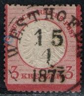 Westhofen 15.1.1873 Auf DR Nr. 25 - Allemagne