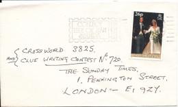 Isle Of Man Cover Sent To England 1999 Topic Single Stamp Royal Wedding - Isle Of Man