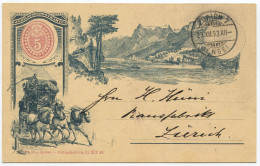 1294 - ZÜRICH 7 (ENGE) 29.XII.93 Auf Gotthardpost Sonderganzsachen-Postkarte - Entiers Postaux