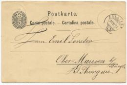 1295 - ZOLLIKON 28 VII 84 Auf Ganzsachen-Postkarte Nach Ober-Mauren Bei Bürglen - Entiers Postaux