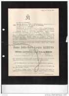 Julie Kerens épouse De Crassier Guillaume President Cour Cassation °Maastricht 1835 +7/2/1911 De Kerchove D´Exaerde - Todesanzeige