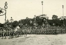 France Paris WWI Fetes De La Victoire Marine Italienne Ancienne Photo Trampus 1919 - Places