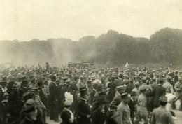 France Paris Apres Guerre Foule Defilant Ancienne Photo Trampus 1919 - Places
