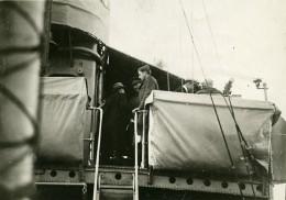 France Brest Ocean Liner Washington Depart Des Souverains Belges Ancienne Photo Trampus 1919 - Boats