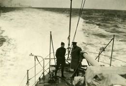 France Brest Prince De Flandres En Route Pour L'Amerique Ancienne Photo Trampus 1919 - Boats