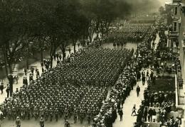 USA New York Fetes De La Victoire Defilé 1ere Division Infanterie Ancienne Photo Trampus 1919 - Places