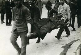 Allemagne Berlin Révolte Spartakiste Manifestation Ouvriere Ancienne Photo Trampus 1919 - Places