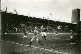 Suede Stockholm Match Football Suede Danemark Ancienne Photo Trampus 1920