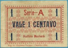 FIGUEIRA CASTELO RODRIGO - CÉDULA De 1 CENTAVO - 1920 - M. A. 916 - ESCASSA - PORTUGAL Emergency Paper Money Notgeld - Portugal