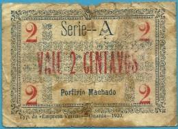 FIGUEIRA De CASTELO RODRIGO - CÉDULA De 2 CENTAVOS - 1920 - M. A. 917 - Escassa - PORTUGAL Emergency Paper Money Notgeld - Portugal