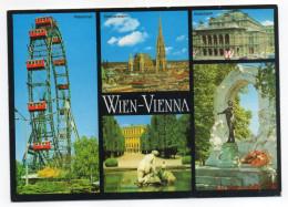 Autriche--Multivues (dont Grande Roue) ,cpm éd  Dapontegasse--timbre Au Dos - Autres