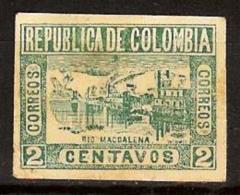 COLOMBIA 1902.05.02 [170g-1] Vistas De Cartagena Y Barranquilla. 9a. Emision. Guerra De Los Mil Días - Colombia