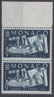 MONACO 1946  -  Y.T.  N° 294 - PAIRE BORD DE FEUILLE  NEUF** F26 - Neufs