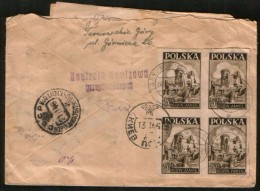 Poland 1946 R-cover Tarnowskie Gory - In The USSR, Censorship - 1944-.... République