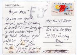 2006--carte Postale FUERTEVENTURA Pour La France--timbre-vignette 0.57€ - 1931-Aujourd'hui: II. République - ....Juan Carlos I