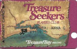 Treasure Bay Casino Bolixi MS - 6th Issue Slot Card - 1-888-777-9696 Over Mag Stripe - Casino Cards