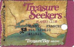 Treasure Bay Casino Bolixi MS - 6th Issue Slot Card W/Pit# - 1-888-777-9696 Over Mag Stripe - Casino Cards