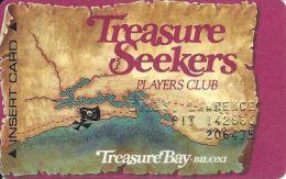 Treasure Bay Casino Bolixi MS - 3rd Issue Slot Card W/Pit# - 1-800-GAMBLER Over Mag Stripe - Casino Cards
