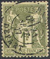 France 76, Used , 4 Margins, Sound (fr076-4, Mich 67l.   [16-AA - 1876-1878 Sage (Type I)
