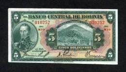 """BOLIVIA BILLETES 1928;  """"5 BOLIVIANOS"""" –BANCO CENTRAL DE BOLIVIA. - Bolivia"""
