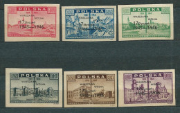 Poland 1946, MiNr 421-426 (*) Mint / Unused, No Gum - 1944-.... République