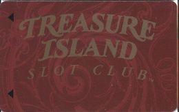 Treasure Island Casino Las Vegas, NV - Slot Card - 12.5mm Mag Stripe (BLANK) - Casino Cards