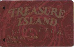 Treasure Island Casino Las Vegas, NV - Slot Card - 12.5mm Mag Stripe - Casino Cards