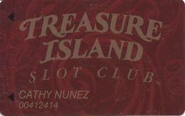 Treasure Island Casino Las Vegas, NV - Slot Card - 10mm Mag Stripe - Casino Cards
