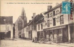 SAINT-ARNOULT-EN-YVELINES RUE DE L4EGLISE ET PLACE DU MARCHE CAFE BAR DUMESNIL 78 YVELINES - St. Arnoult En Yvelines