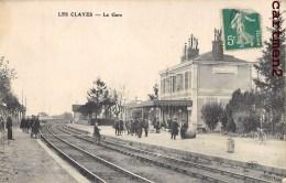 LES CLAYES-SOUS-BOIS INTERIEUR DE LA GARE TRAIN LOCOMOTIVE 78 YVELINES - Les Clayes Sous Bois