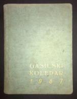 SLOVENIJA, KNJIGICA GASILSKI KOLEDAR 1957, FIREFIGHTERS CALENDAR, 160 STRANI-PAGES - Books, Magazines, Comics