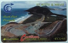 ST KITTS & NEVIS - GPT - South East Peninsula - $40 - Specimen - St. Kitts & Nevis