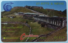 ST KITTS & NEVIS - GPT - Fortress - $10 - 3CSKA - Used - St. Kitts & Nevis