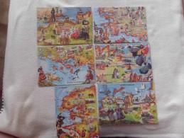 LOT DE 6 CARTES ...EN BRETAGNE ..AQUARELLES DE E.GUILLAUME...FINISTERE...GOLFE DU MORBIHAN ETC... - Cartes Postales