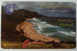 ST KITTS & NEVIS - GPT - Peninsula - $10 - 3CSK (Missing B) - Used