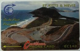 ST KITTS & NEVIS - GPT - Peninsula - $40 - 3CSKF - Used - St. Kitts & Nevis