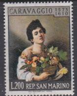 San Marino 1960 Caravaggio Painting MNH - Saint-Marin