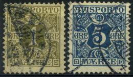 Danemark : Journaux N° 1 Et 2 Oblitéré Année 1907 - Officials