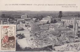 S-  GUERRE 14 17  COMMEMORATION JOURNEE DE LA MEUSE 1917 RUINES DE CLERMONT EN ARGONNE - Clermont En Argonne