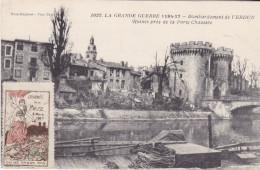 S-  GUERRE 14 17  COMMEMORATION JOURNEE DE LA MEUSE 1917 BOMBARDEMENT VERDUN RUINES PORTE CHAUSSEE - Verdun