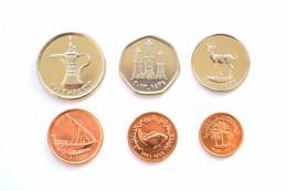 United Arab Emirates Complete Set Of 6 Coins, 1; 5; 10; 25;50 Fils,1 Dirham, UNC Middle East Coins - Emirats Arabes Unis