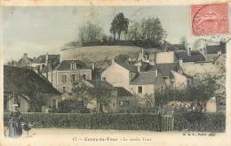 58 Cercy La Tour, La Vieille Tour, Femme Devant Le Puits Au 1er Plan, Carte Colorisée Et Cachet OR, 1907 - France