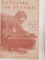 (GB8) La Lettre De Manon ; Paroles : ANTONIN  LOUIS , Musique : ERNEST GILLET - Noten & Partituren