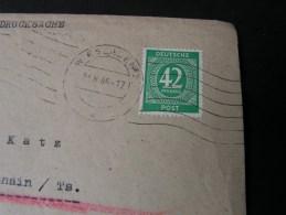 == Deutsche Post  EF  42 Pf.  Von Wiesbaden   1946 - Gemeinschaftsausgaben