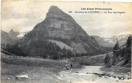 JAUSIERS  (cpa 04) La Tour Des Sagnes  - Les Alpes Pittoresques - - Francia