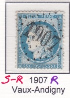 GC 1907 R (remplacant) Sur 60 - Vaux-Andigny (2 Aisne) - 1849-1876: Classic Period